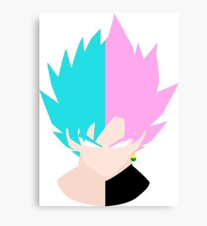 Goku SSB and Goku Black SSR Canvas Print