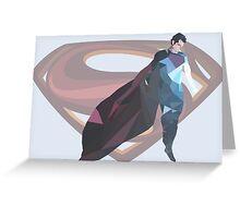 Geometric Superman Greeting Card