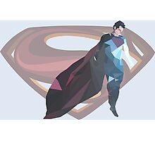 Geometric Superman Photographic Print