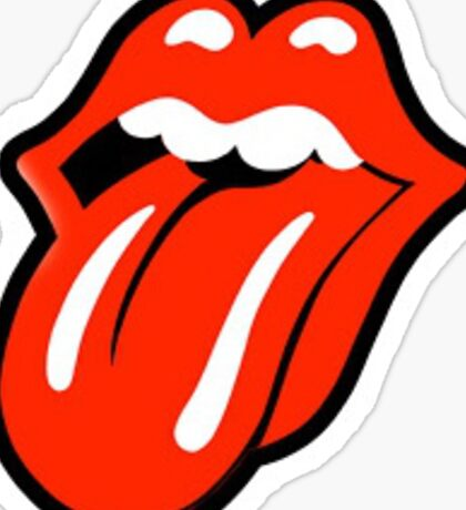 Tongue and Lips Sticker