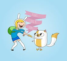 Fight Like A Girl: Fionna + Cake by Dorothy Timmer
