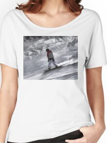 """Snowboarder """"just cruisin'"""" Winter Sports Gift Women's Relaxed Fit T-Shirt"""