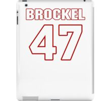 NFL Player Richie Brockel fortyseven 47 iPad Case/Skin