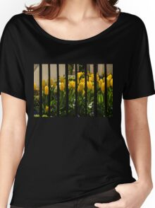 Tulips Behind Bars Women's Relaxed Fit T-Shirt