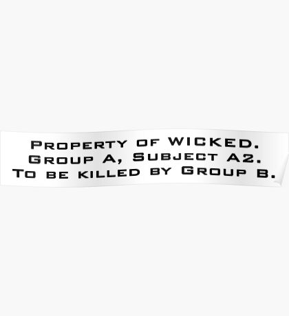 Property of WICKED - Thomas Poster
