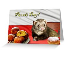 Paczki Day Ferret Greeting Card