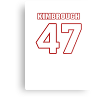 NFL Player Jeremy Kimbrough fortyseven 47 Metal Print