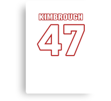 NFL Player Jeremy Kimbrough fortyseven 47 Canvas Print
