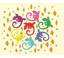 Colorful Lizards Photographic Print