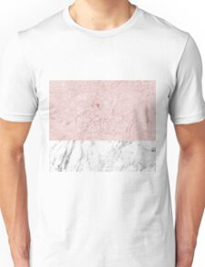 Pink marble - touch of carrara Unisex T-Shirt
