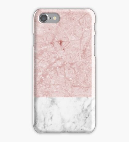 Pink marble - touch of carrara iPhone Case/Skin
