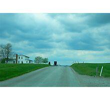Amish Homestead Buggy Photographic Print