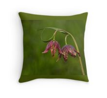 CHOCOLATE LILIES Throw Pillow