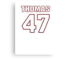 NFL Player Johnny Thomas fortyseven 47 Canvas Print