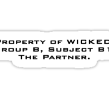 Property of WICKED - Aris Sticker