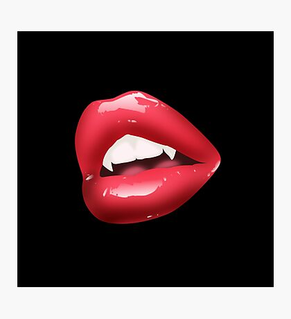 Lips Of A Vampire Photographic Print