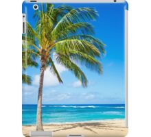 Palm trees on the sandy beach in Hawaii iPad Case/Skin