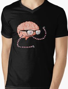 big brain Mens V-Neck T-Shirt