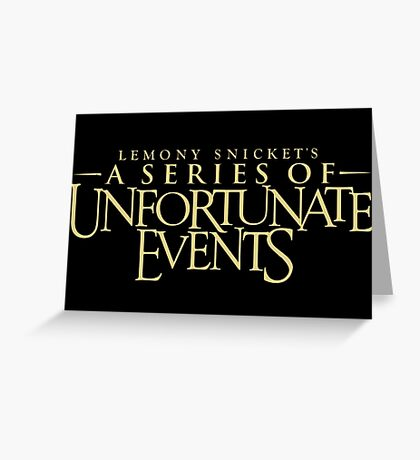 a series of unfortunate events tv show Greeting Card