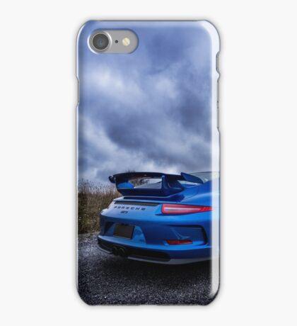 Blue Porsche GT3 iPhone Case/Skin