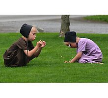 Little Amish Girls Photographic Print