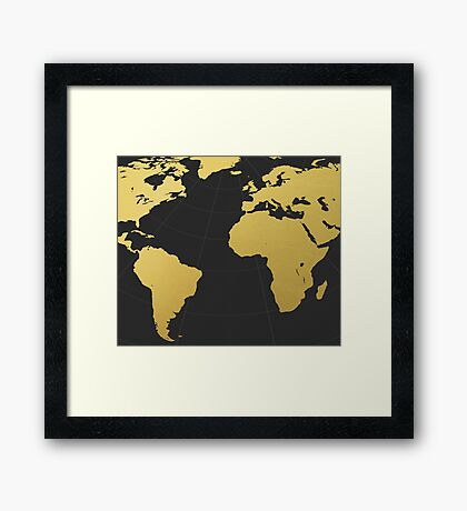 Dark golden world Framed Print