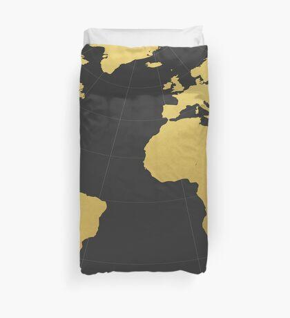 Dark golden world Duvet Cover