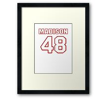 NFL Player Ross Madison fortyeight 48 Framed Print