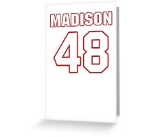 NFL Player Ross Madison fortyeight 48 Greeting Card
