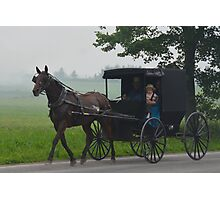Amish Buggy Ride on a Saturday Night Photographic Print