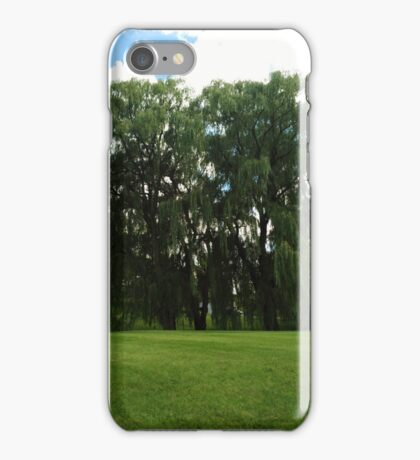 Weeping Willow Trees Photo iPhone Case/Skin