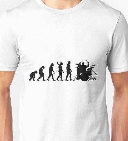 Human evolution of drummer man Unisex T-Shirt