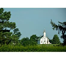 Amish Country Church Photographic Print