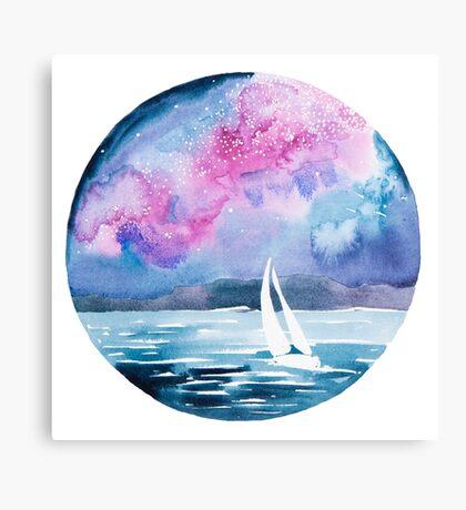 Starlight sailing Canvas Print