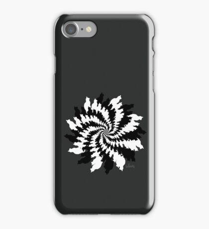 Black & White Cat Fractal  iPhone Case/Skin