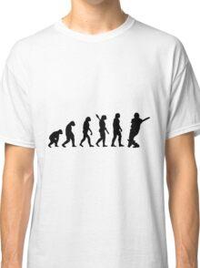 Human evolution of cricketer Classic T-Shirt