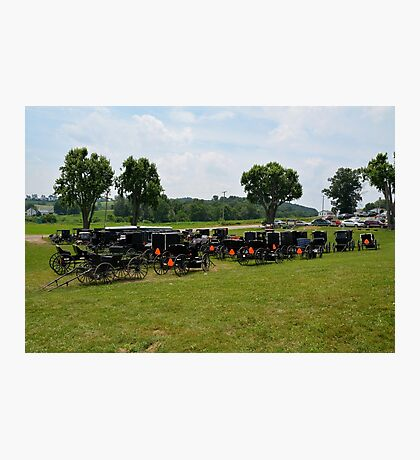 Amish Buggy Parking Lot Photographic Print