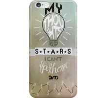 My Thoughts are Stars (Alternative) iPhone Case/Skin