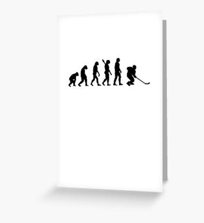 Human evolution of ice hockey Greeting Card