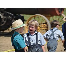 Amish Boys at the Steam Show Photographic Print