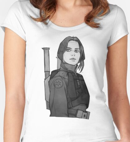 star wars rogue one Women's Fitted Scoop T-Shirt