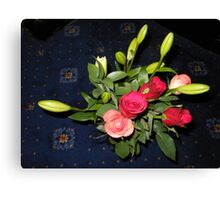 Bouquet of Roses and Lilies Canvas Print