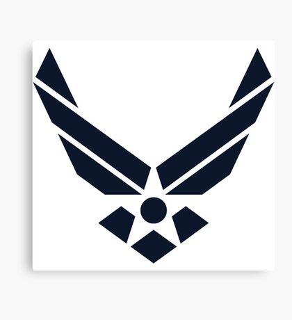United States Air Force Logo, Blue Canvas Print