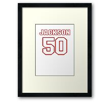 NFL Player Rob Jackson fifty 50 Framed Print
