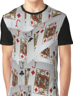 Jacks, Playing Cards In A Layered Pattern Graphic T-Shirt