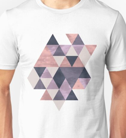 Triangles - Pink & Purple Unisex T-Shirt