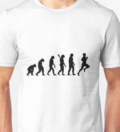 Human evolution of jogging man Unisex T-Shirt