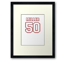 NFL Player Gabe Miller fifty 50 Framed Print