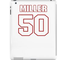 NFL Player Gabe Miller fifty 50 iPad Case/Skin