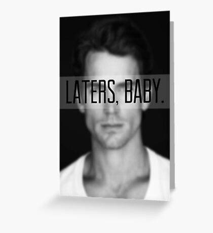 Latters Baby Cgristian Grey Greeting Card